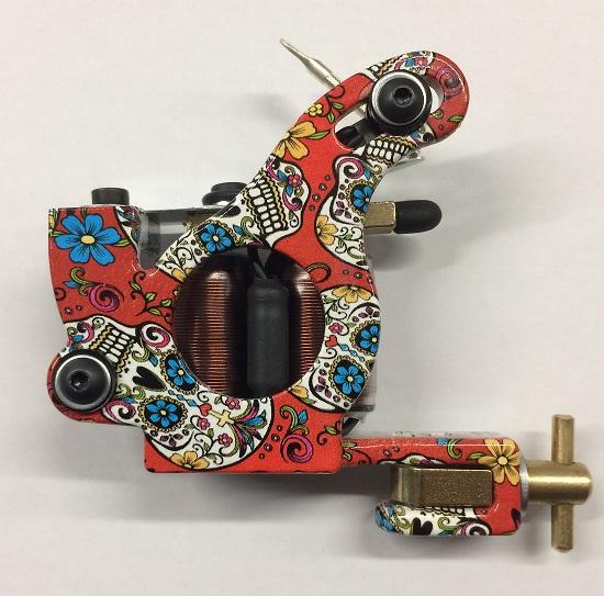 75d6db878 Micky Sharpz Tattoo Machines :: NEW MkIV Custom Telephone Dial - Candy  Skulls Design - Red
